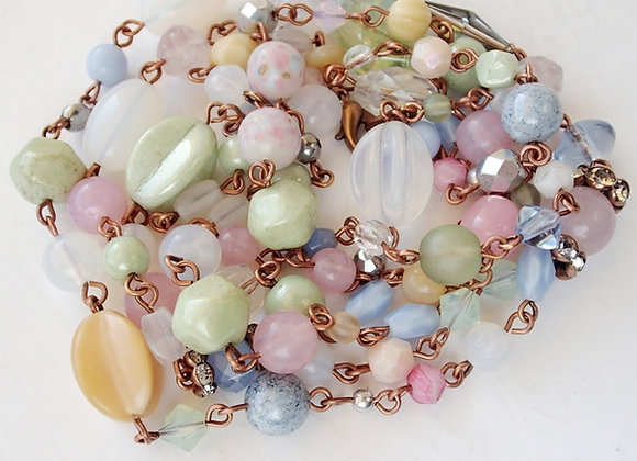 PASTEL COLOR LONG CHAIN NECKLACE minimalist