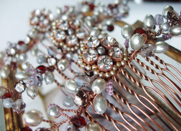 GREY BRIDESMAID HAIR COMB