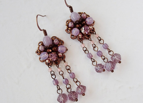 PURPLE DANGLE EARRINGS Flavors of Lavender