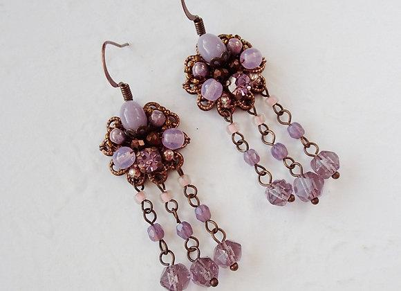 PURPLE DANGLE EARRINGS Flavors of Lavender