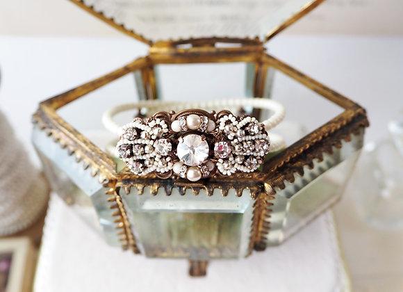 IVORY PEARL RHINESTONE CUFF BRACELET Bridal