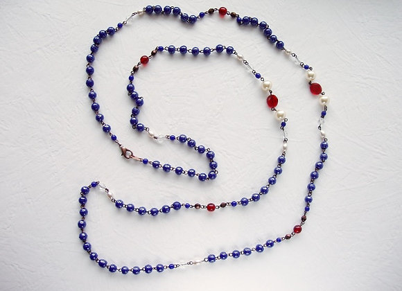 NAVY BLUE LONG NECKLACE