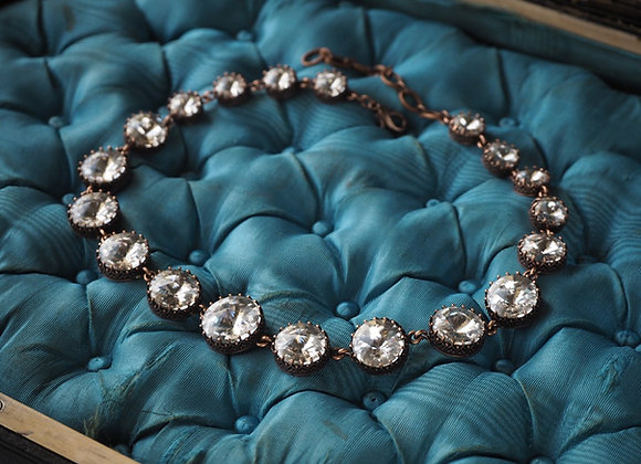 VINTAGE STYLE CRYSTAL CHOKER NECKLACE Historical Jewelry