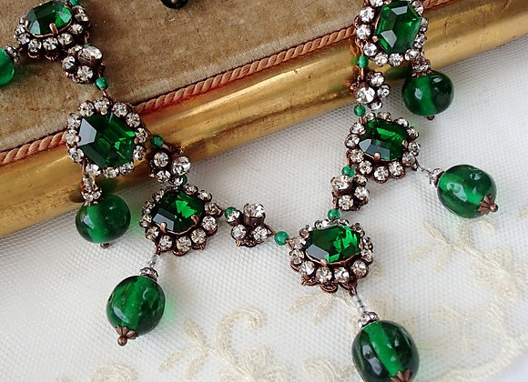 EMERALD DUCHESS NECKLACE Green Historically inspired