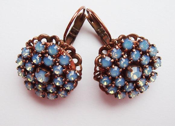 BLUE OPAL STRASS EARRINGS