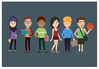 272472-multiculturele-tieners-gratis-vec