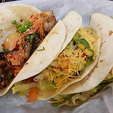 Pork Belly Kimchi taco