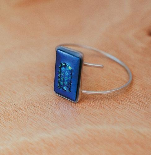 Bracelete de Prata Azul