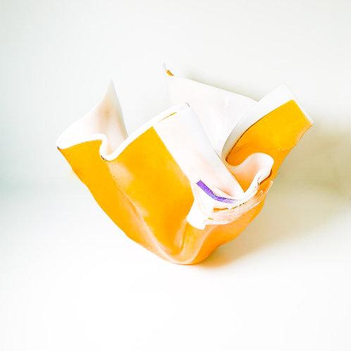 Vaso Amarelo e Branco