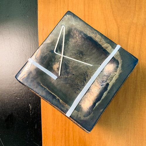 Caixa de Madeira Metalizada