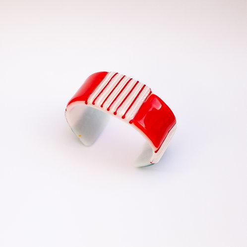 Bracelete Vermelho e Branco