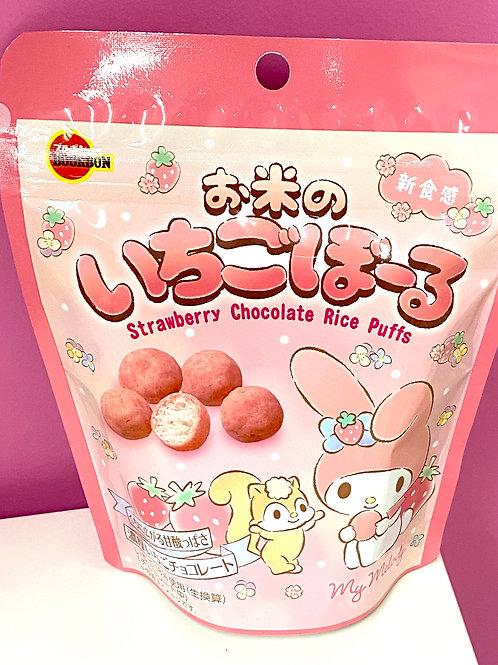 Melody strawberry puffs