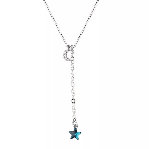 MOON+ BLUE STAR NECKLACE
