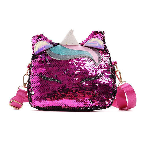 Sequin Kitten Kids purse