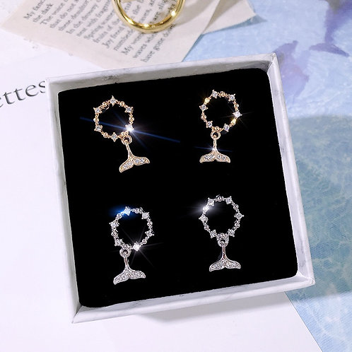 <STERLING SILVER > S925 EARRINGS