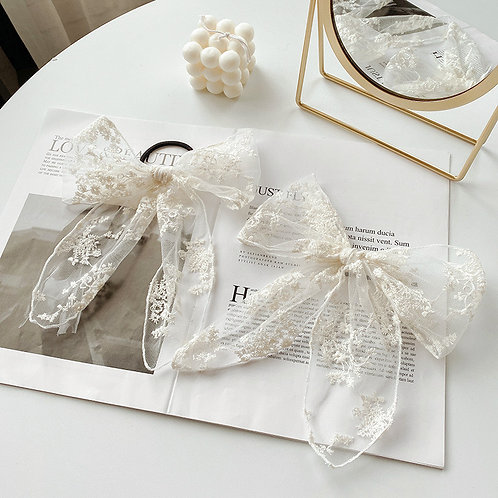 White Lace Hair Accessories