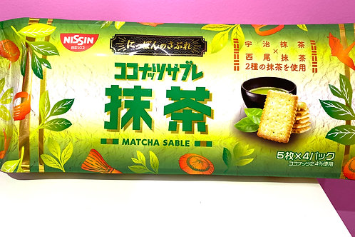 NISSIN Matcha Coconut Biscuit