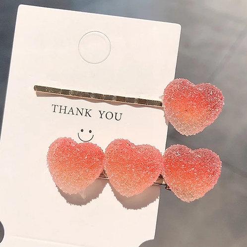 Gummy Hair Clip Set