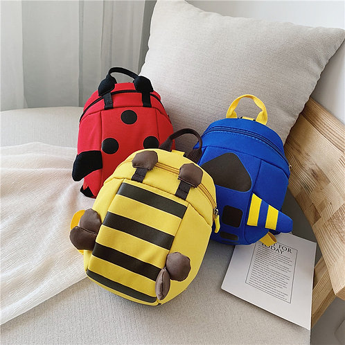 Bee kid guiding backpack