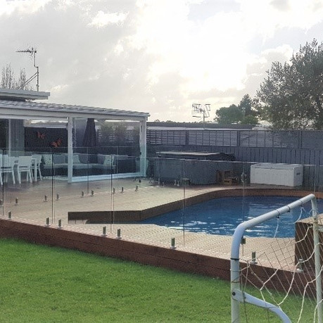 New Pool deck with glass balustrading