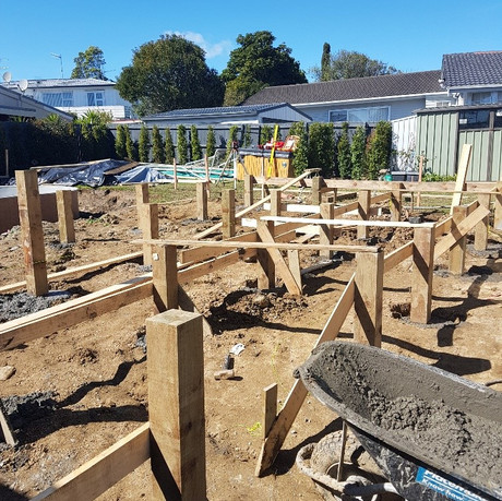 Foundations for new deck