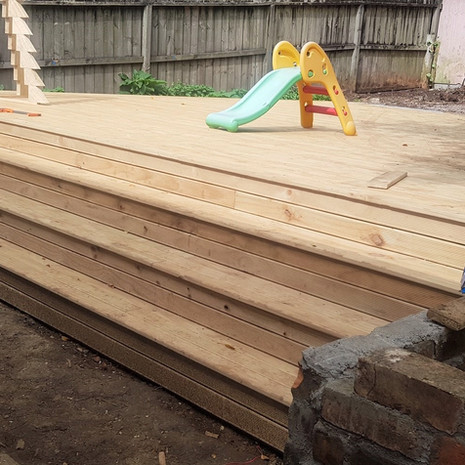 Creation of new deck for sleepout