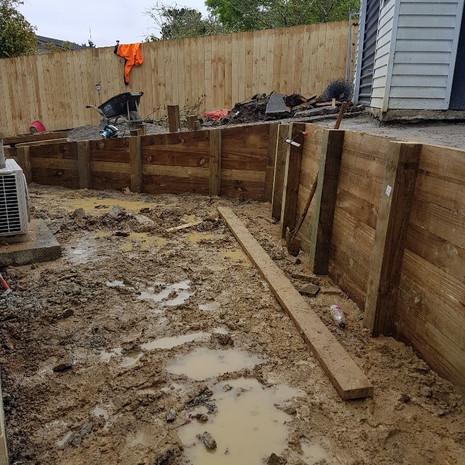 Glenfield retaining wall