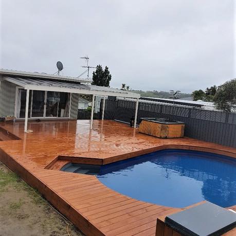 Beautiful new pool deck