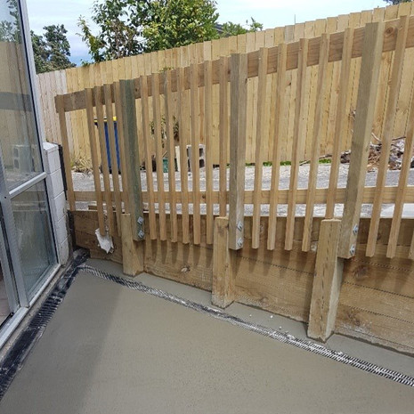Glenfield concreting and retaining wall