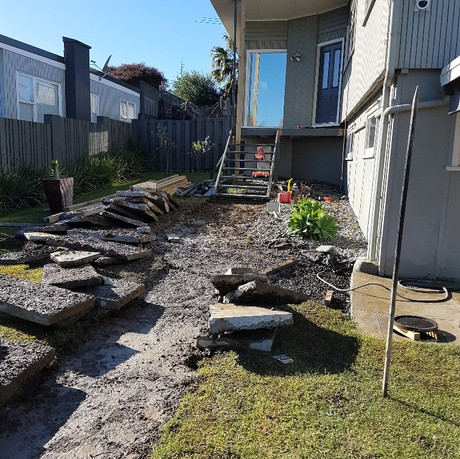 Remuera removal of old stairs and concrete