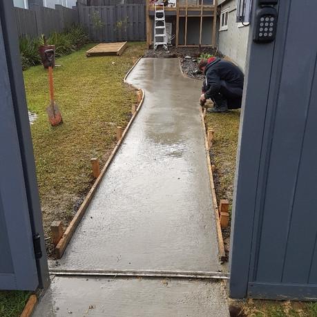 New concrete path