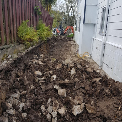 Glenfield landscaping project before