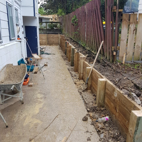Glenfield new path and retaining