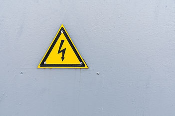 High voltage warning sign on high-voltag
