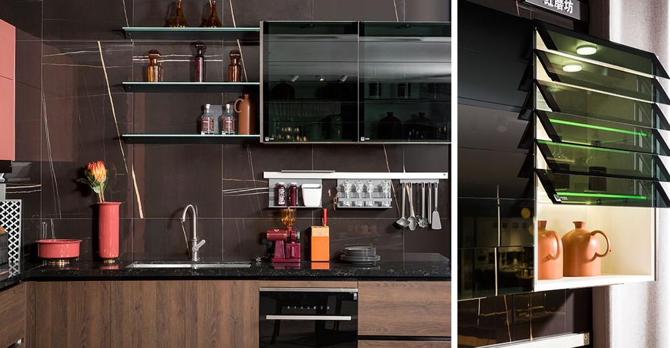 L-Shape-Modern-Red-PVC-Kitchen-PLCC19112