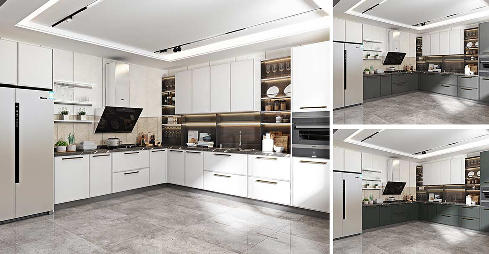 Modern-Matte-Lacquer-Kitchen-with-Island