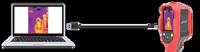 サーマルカメラケーブル接続