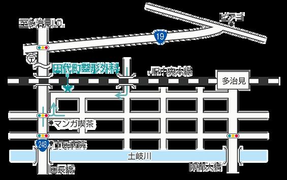 田代町整形外科地図