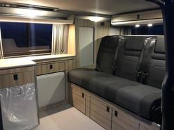 Finished interior lounge area