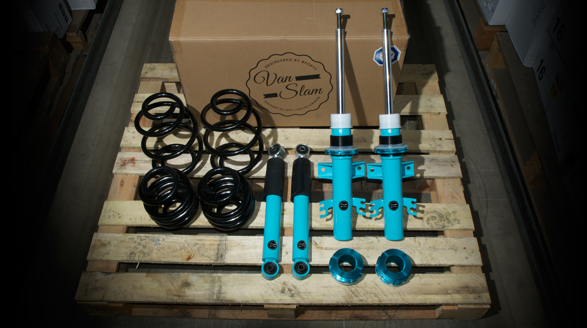 Vanslam van coilover suspension