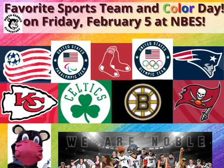 Favorite Sports Team and Color Day on Friday, February 5 at NBES!
