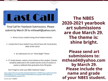 Last call for yearbook submissions!