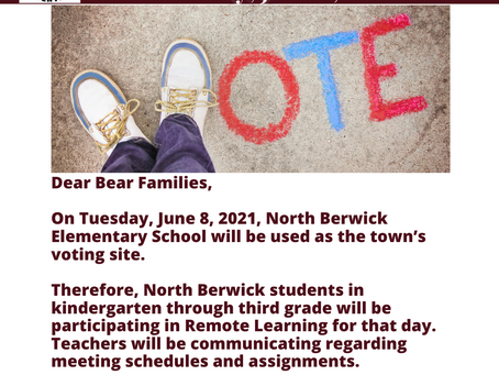 Remote for the Vote on Tuesday, June 8, 2021