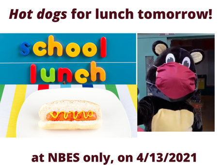 Hot dogs for lunch tomorrow!