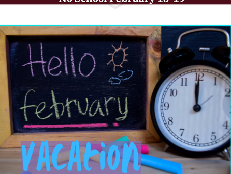 NBES February Vacation is 2/15-2/19