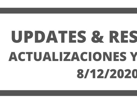 Co. Updates and Resources 8/12/20