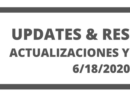 Co. Updates and Resources 6/18/20