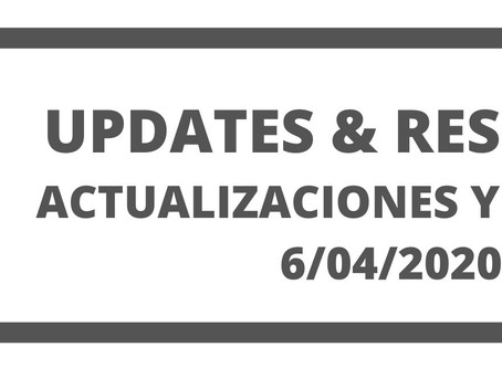 Co. Updates and Resources 6/04/20