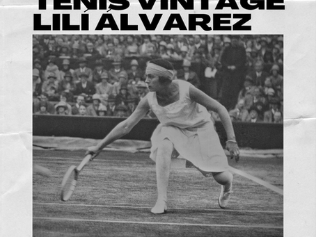 Lilí Álvarez tendrá su torneo de tenis vintage
