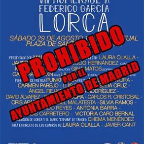 """El Ayuntamiento de Madrid """"fusila"""" de nuevo a Federico García Lorca"""